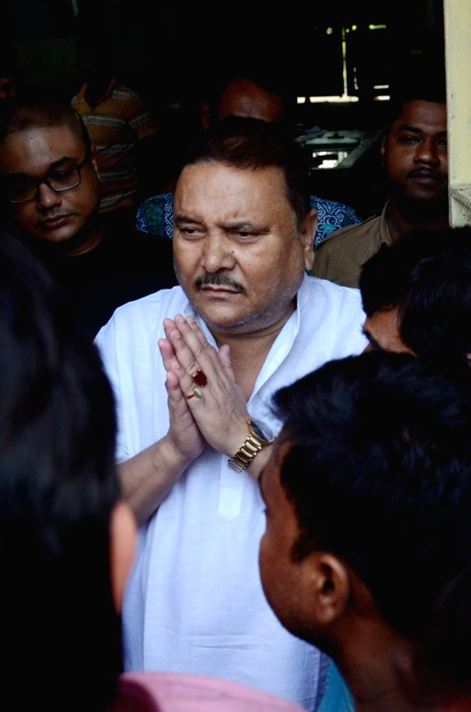 Trinamool Congress leader Madan Mitra who was lodged in Alipore Jail in connection with Saradha chit fund scam being released on bail in Kolkata on Sept 10, 2016.