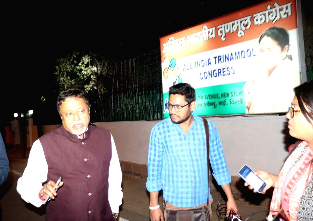 Trinamool Congress leader Mukul Roy at Jantar Manatar in New Delhi on Nov 22, 2016. - Mukul Roy