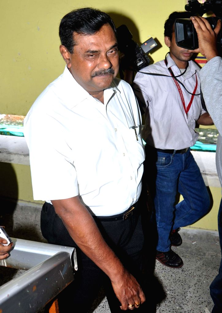 Trinamool Congress leader Samir Chakrabarty comes out after appearing before CBI in connection with multi-crore-rupee Saradha chit fund scam in Kolkata on Sept 10, 2014.