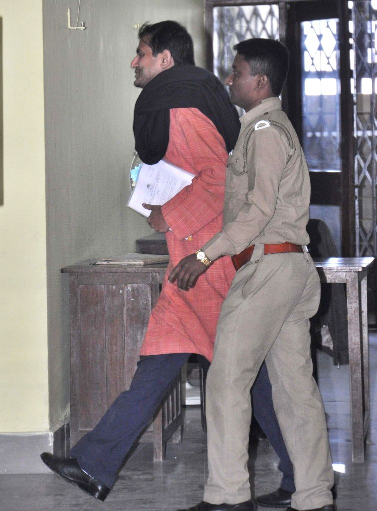 Trinamool Congress leader Shankudeb Panda arrives to appear before the Enforcement Directorate (ED) in connection with the multi-crore-rupee Saradha chit fund scam in Kolkata, on Dec 29, 2014.