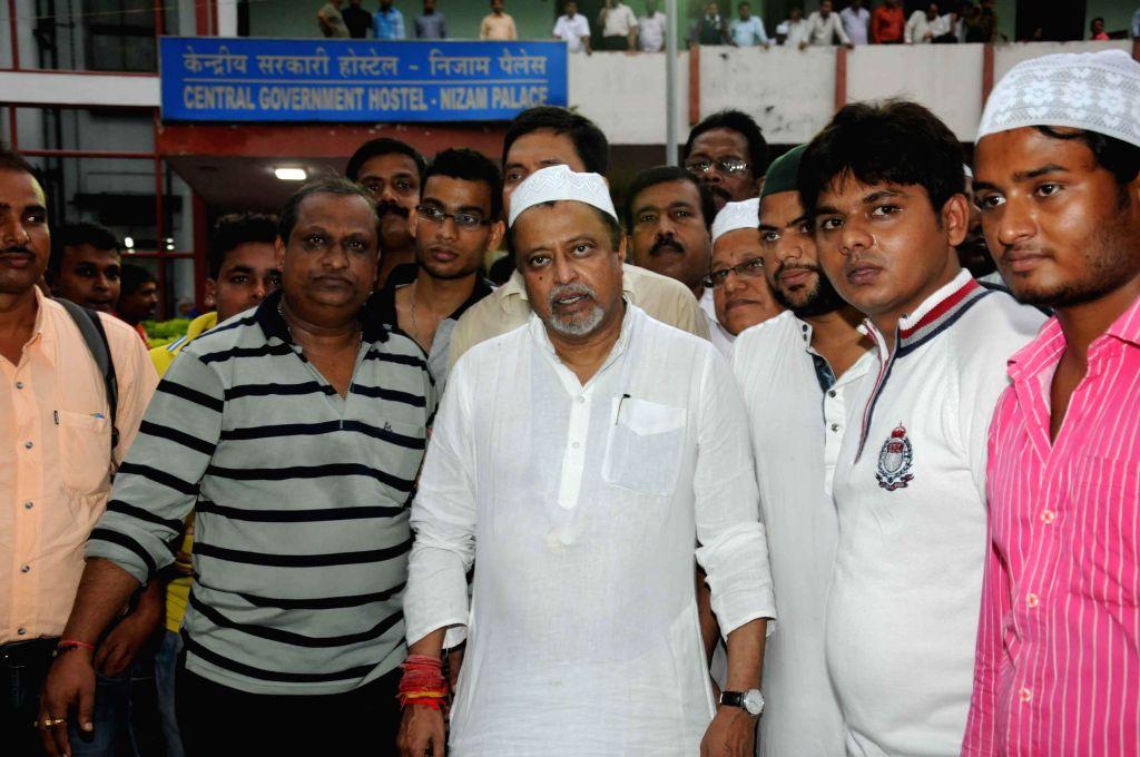 Trinamool Congress MP Mukul Roy during a Iftar party at Nizam Palace in Kolkata on June 28, 2015 .