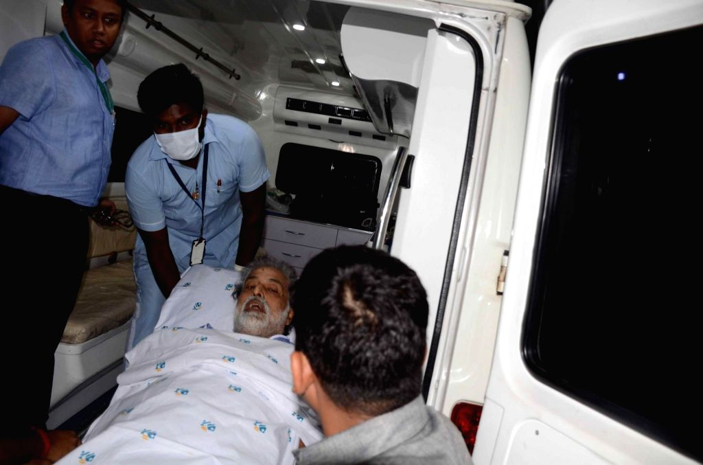 Trinamool Congress MP Sudip Bandopadhyay being taken to hospital in Kolkata on May 21, 2017. The Central Bureau of Investigation (CBI) had arrested the TMC lawmaker from Kolkata on January 3.