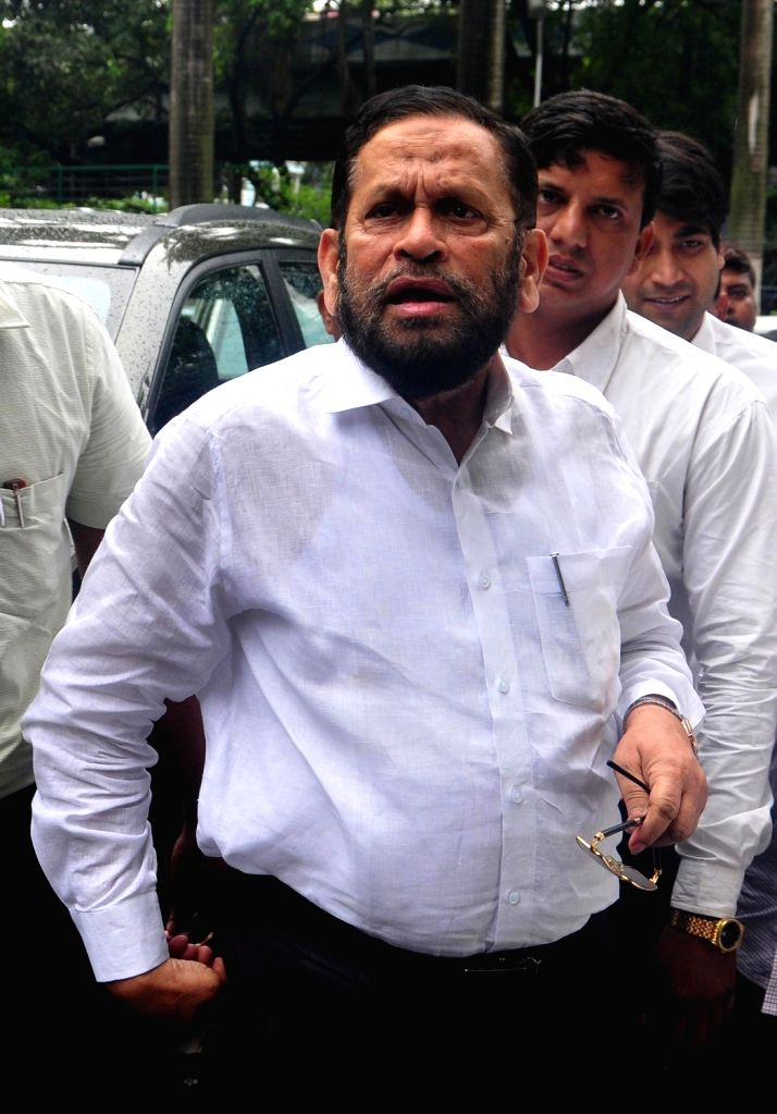 Trinamool Congress MP Sultan Ahmed arrives at Nizam Palace to appear before CBI in connection with Narada sting in Kolkata, on July 3, 2017.
