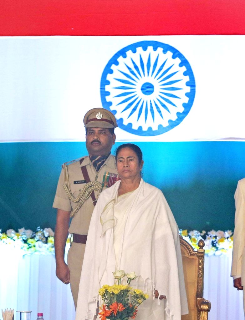 Trinamool Congress supremo Mamata Banerjee during her swearing-in ceremony as West Bengal Chief Minister in Kolkata, on May 27, 2016. - Mamata Banerjee