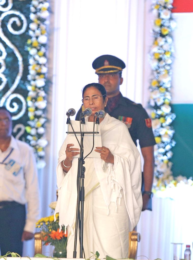 Trinamool Congress supremo Mamata Banerjee swears-in as West Bengal chief minister in Kolkata, on May 27, 2016. - Mamata Banerjee