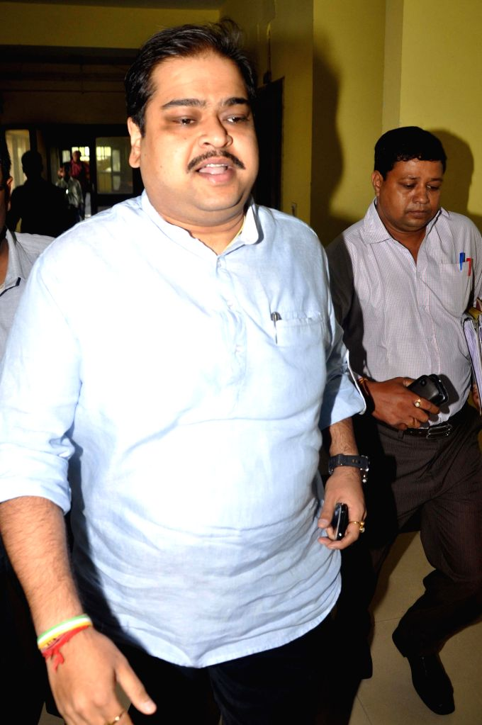 Trinamool leader and Rajya Sabha member, Srinjay Bose arrives to appear before CBI in connection with multi-crore-rupee Saradha chit fund scam in Kolkata on Sept 10, 2014.