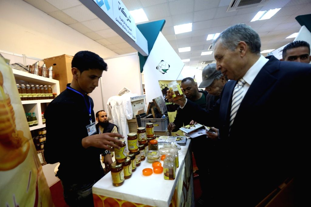 TRIPOLI, April 3, 2018 - People visit the 46th Libyan Tripoli International Fair in Tripoli April 2, 2018. The 46th Libyan Tripoli International Fair kicked off on Monday with participation of ...