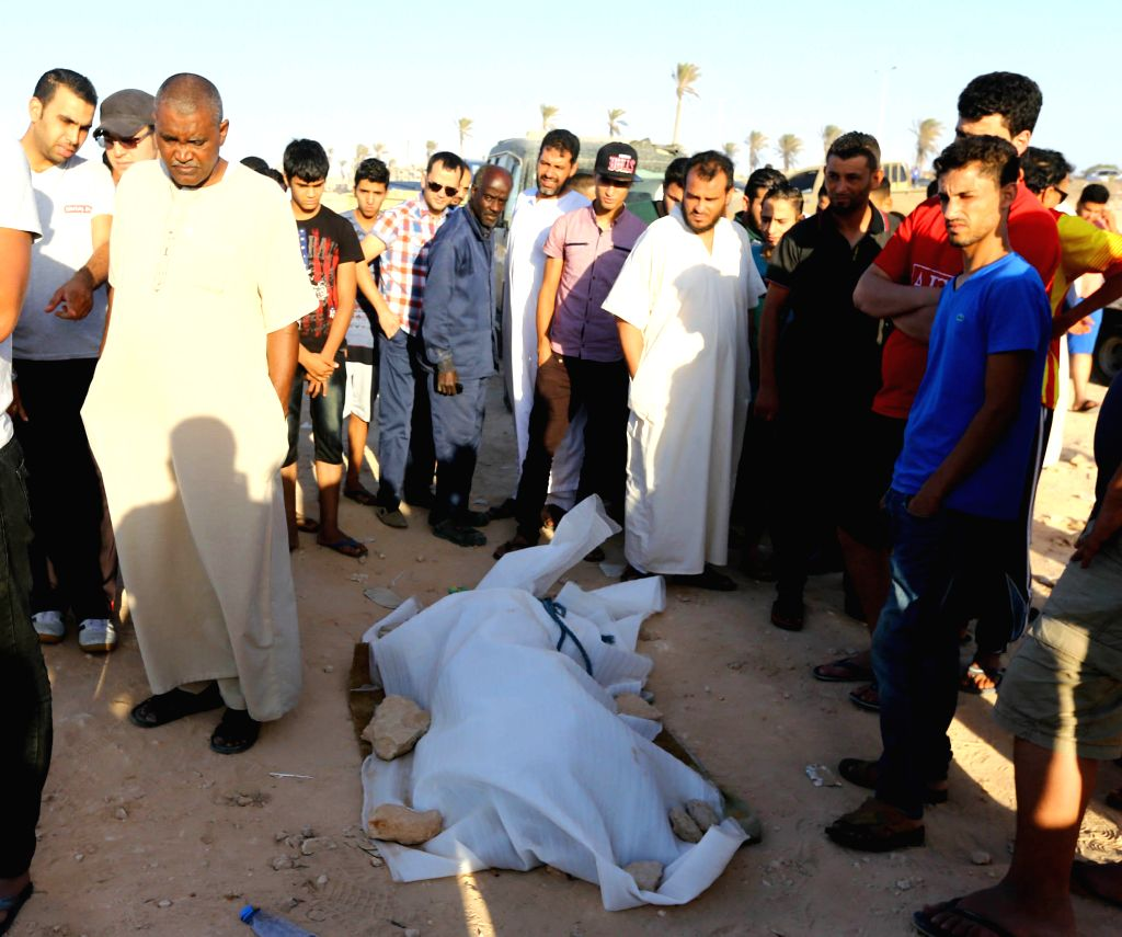 Latest News Illegal Immigrants: Local People Watch A Body Of An Illegal Immigrant On The