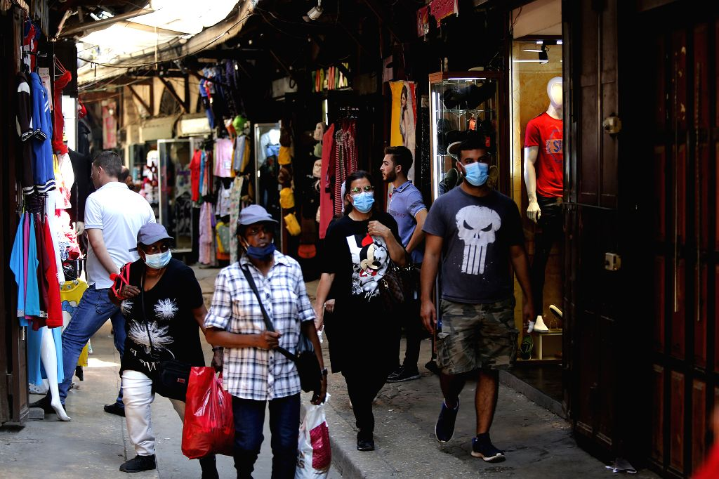 Tripoli (Lebanon), Sept. 12, 2020 People wearing face masks are seen at an old market in Tripoli, Lebanon, on Sept. 12, 2020. Lebanon registered on Saturday 686 new COVID-19 infections, ...