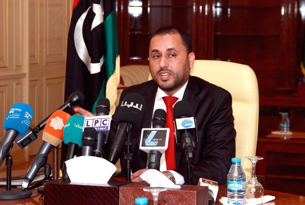 TRIPOLI, Sept. 9 Libya's Islamist-backed Prime Minister Omar al-Hasi addresses a meeting after the outgoing General National Congress (GNC) granted trust to the new cabinet, which is ... - Omar