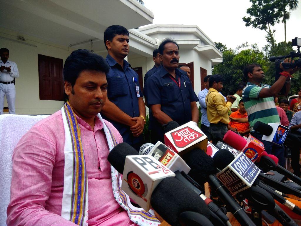 Tripura Chief Minister Biplab Kumar Deb. (photo: IANS) - Biplab Kumar Deb