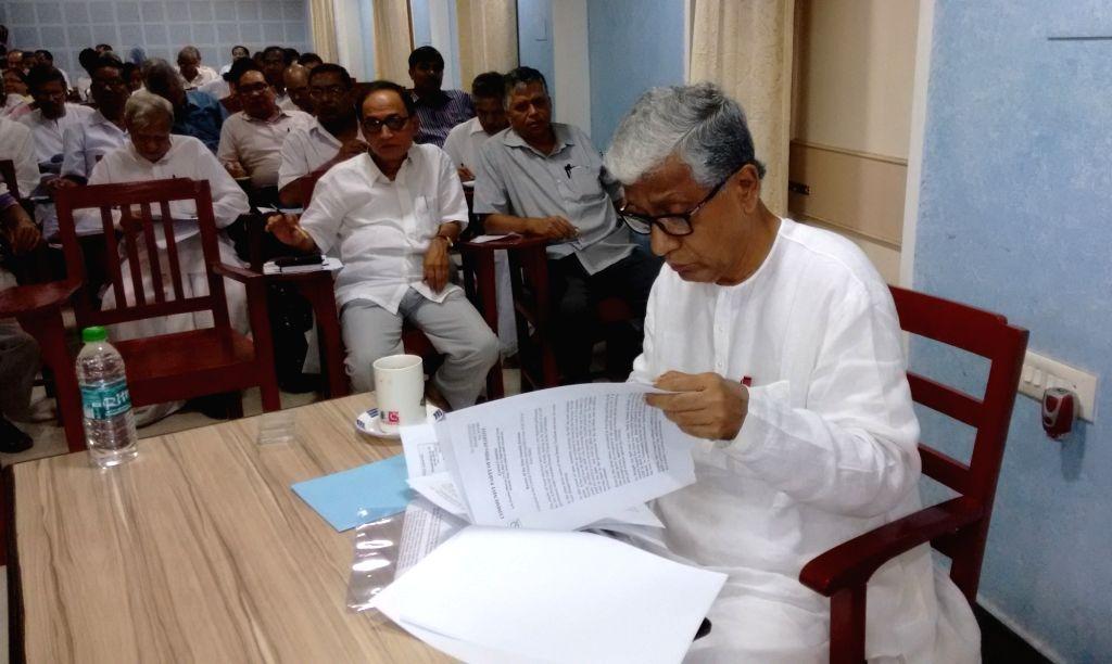 Tripura Chief Minister Manik Sarkar during a CPI-M programme in Agartala on June 27, 2016. - Manik Sarkar