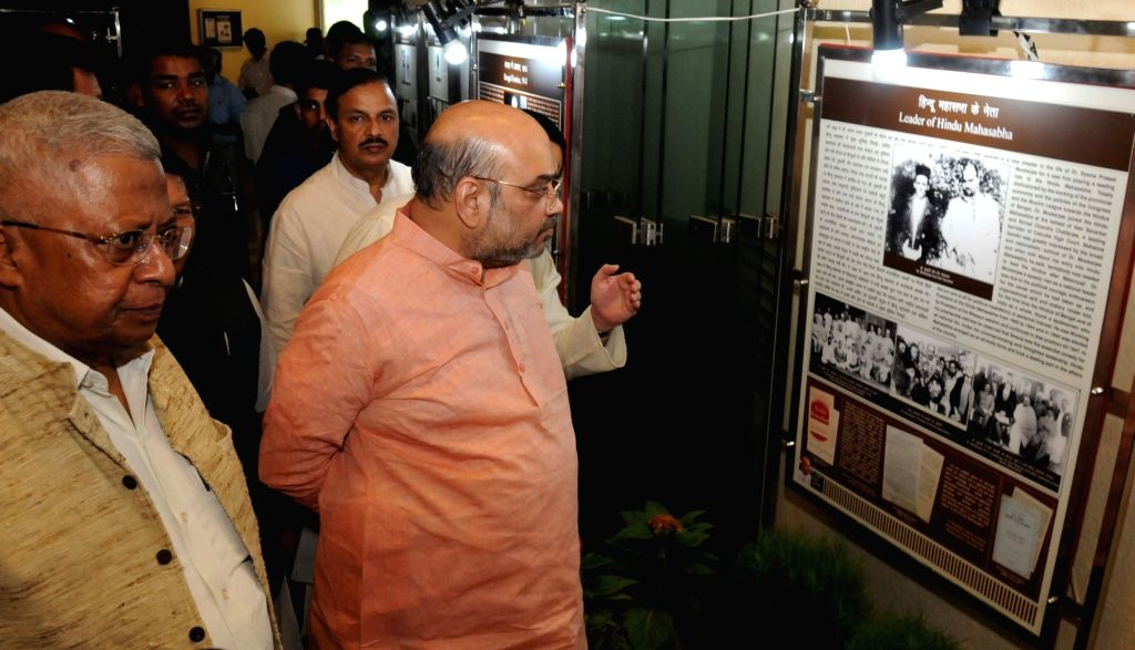 Tripura Governor Tathagata Roy and BJP chief Amit Shah at 'Dr. Syama Prasad Mookerjee: A Selfless Patriot' - an exhibition organised by the Nehru Memorial Museum and Library in association with ... - Tathagata Roy and Amit Shah