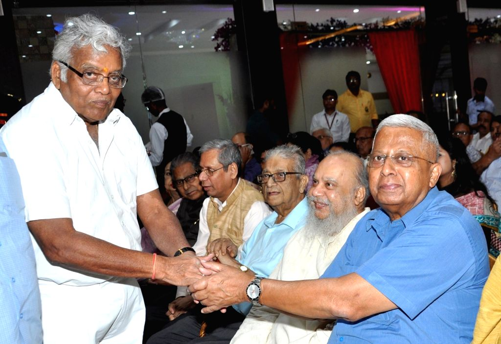 Tripura Governor Tathagata Roy (R) during the launch of a book 'Episodes of Compassion' written by Dr. Ashis Kumar in Kolkata on June 2, 2018. - Tathagata Roy and Ashis Kumar