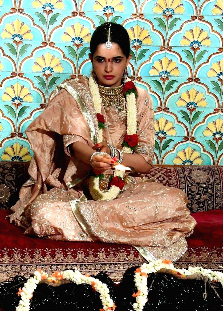 Trishika Kumari, Fiancee of Yaduveer Krishnadatta Chamaraja Wadiyar performs rituals as part of her marriage at the Mysore Palace, in Mysuru, on June 25, 2016.