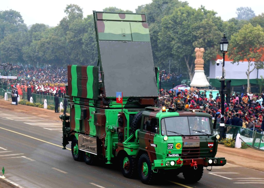 Troop Level Radar marching at Rajpath during the full dress rehearsal for the Republic Day Parade 2018, in New Delhi Jan 23, 2018.