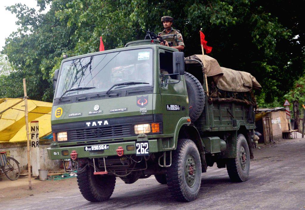 Indian Army patrols BTAD area