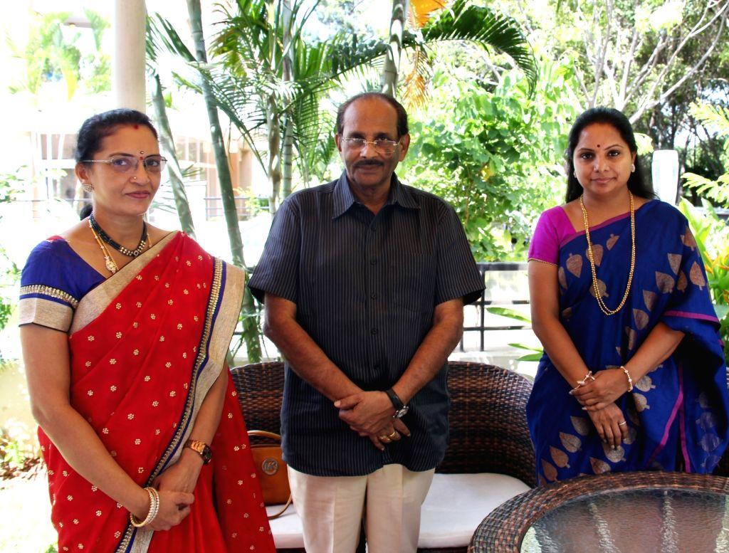 TRS MP Kalvakuntla Kavitha a programme in Hyderabad.