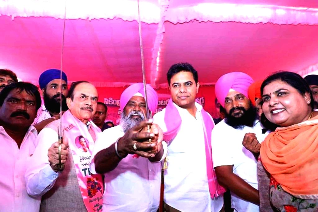 TRS Working President K. T. Rama Rao at a party meeting in Kamareddy, Telangana on March 13, 2019.