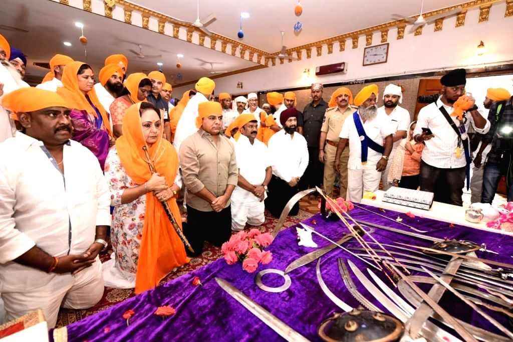 TRS Working President K. T. Rama Rao during the 550th birth anniversary celebrations of Guru Nanak at Gurudwara Saheb, Ameerpet in Hyderabad on Sep 5, 2019.