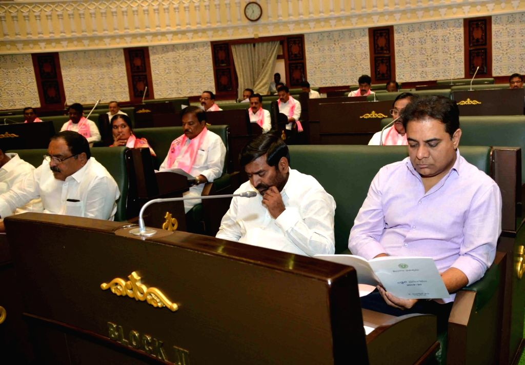 TRS Working President K.T. Rama Rao during the Budget Session of the state assembly in Hyderabad on Sep 9, 2019. - T. Rama Rao