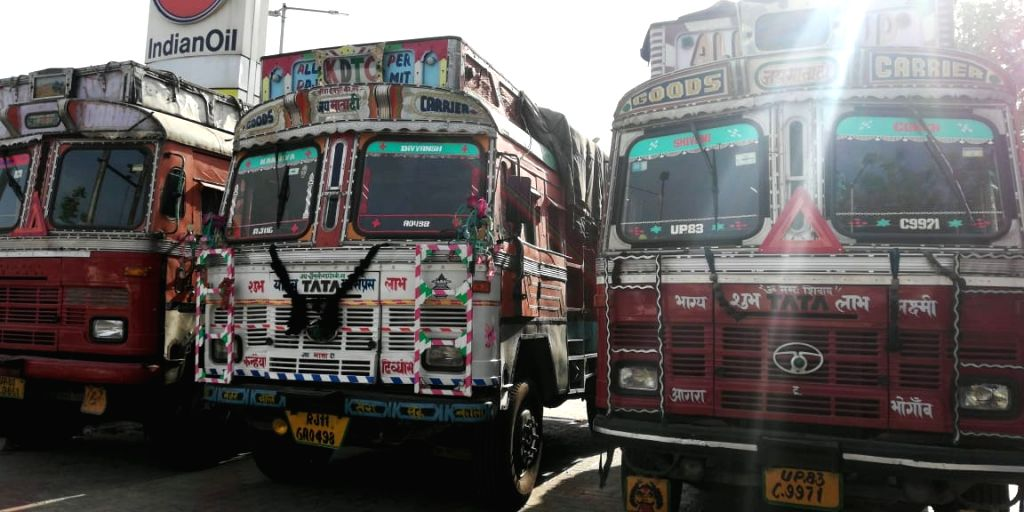 Trucks stranded on National Highway 2. Hundreds of drivers and cleaners have left their trucks, stranded on various highways for days.Several trucks, loaded with goods or unloaded abandoned as drivers could not get food/water.