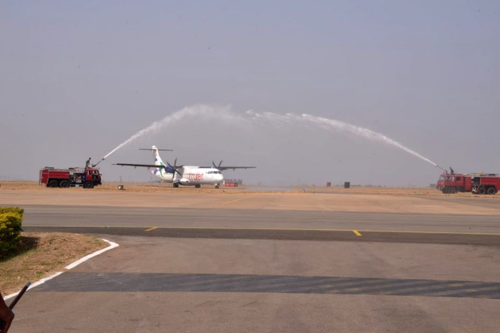Trujet launched a daily flight between Bengaluru and Bidar town in northeastern Karnataka on Feb 07, 2020.