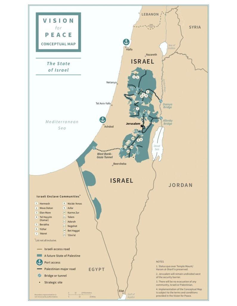 Trump announces Mideast peace plan backing Israel