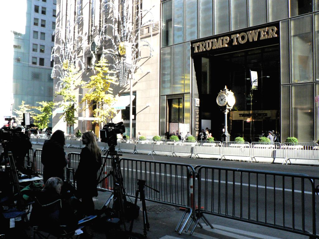 Trump Tower in mid-town Manhattan in New York City. President-elect Donald Trump has been working on shaping his administration by meeting various people there. Democrat Tulsi Gabbard, the first ...
