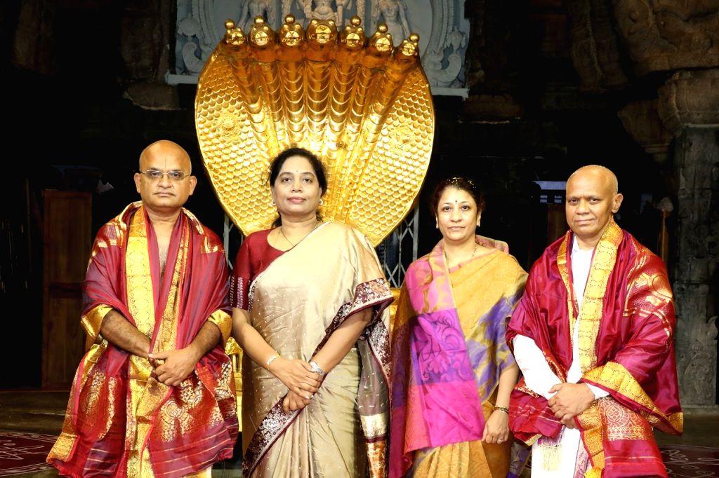 TTD EO Jawahar Reddy takes oath as specified authority chairman. - Jawahar Reddy