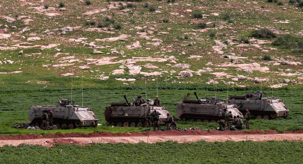 TUBAS, Feb. 6, 2019 - Israeli troops take part in a military training near Tubas town in the northern Jordan Valley on Feb. 6, 2019.