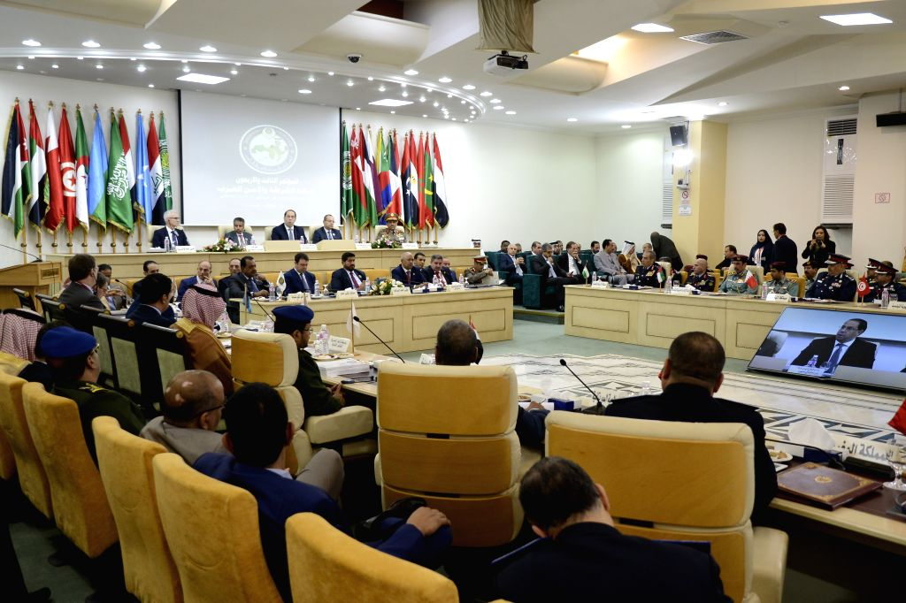 TUNIS, Dec. 12, 2019 - The 43rd Conference of Arab Police and Security ers is held in Tunis, Tunisia, Dec. 11, 2019. The conference kicked off in Tunis on Wednesday to discuss means to enhance ...
