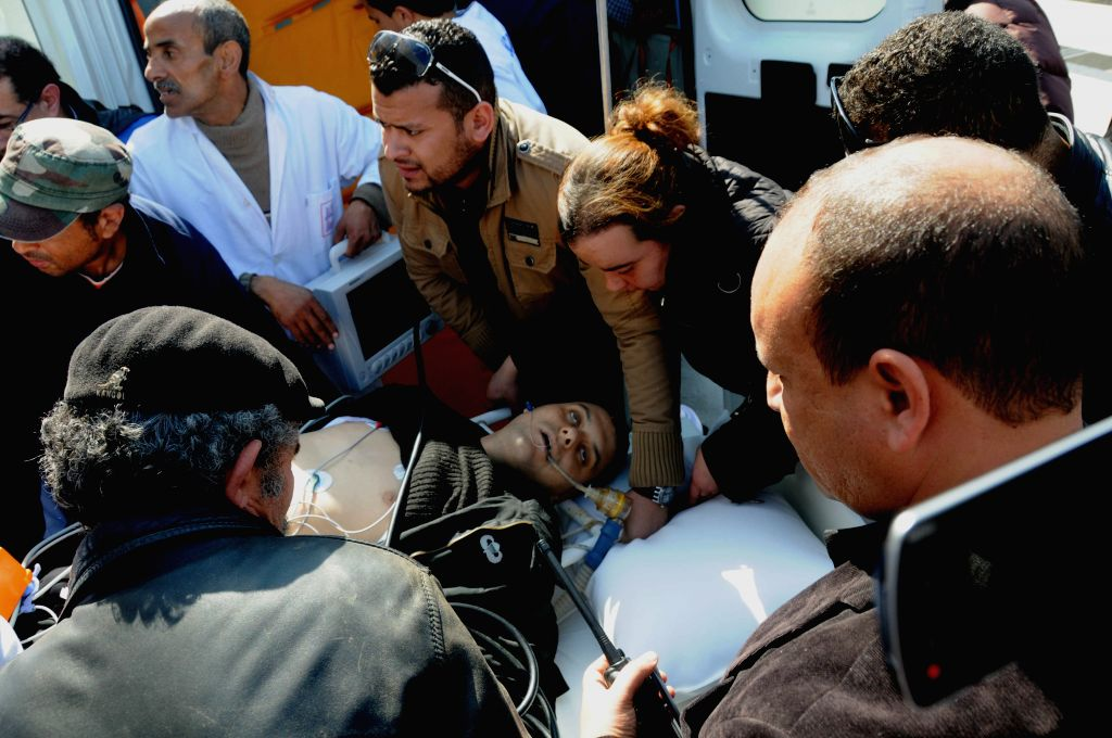 A wounded person is sent to Charles Nicole Hospital after an armed attack on Bardo Museum in Tunis on March 18, 2015. At least 19 people were killed, including 17 ... - Habib Essid