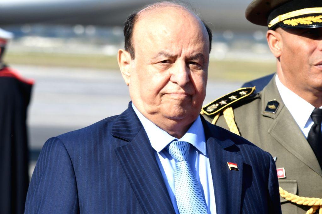 TUNIS, March 30, 2019 (Xinhua) -- Yemeni President Abd-Rabbu Mansour Hadi arrives in Tunis, Tunisia, March 30, 2019, to attend the Arab League (AL) Summit. The 30th AL Summit will be held in Tunis on March 31. (Xinhua/IANS)