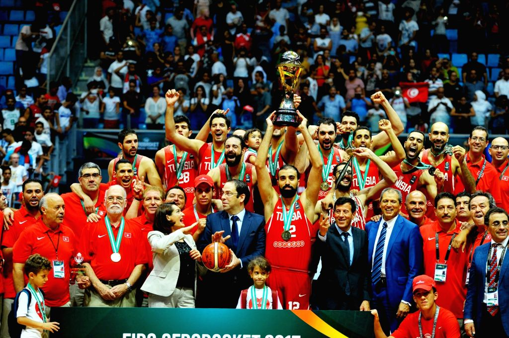 TUNIS, Sept. 17, 2017 - Tunisia won 2017 African basketball championship after defeating Nigeria 77-65 in the final in Tunis, capital of Tunisia, on Sept. 16, 2017.