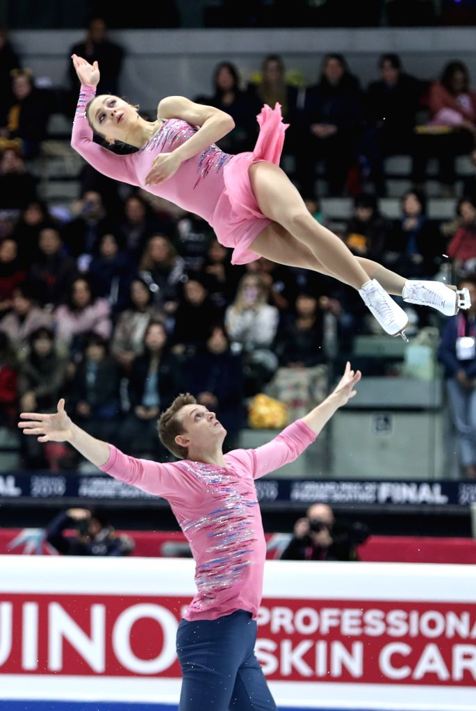 TURIN, Dec. 6, 2019 - Aleksandra Boikova (Top)/Dmitrii Kozlovskii of Russia compete during the pairs short program at the ISU Grand Prix of Figure Skating Final 2019 in Turin, Italy, Dec. 5, 2019.