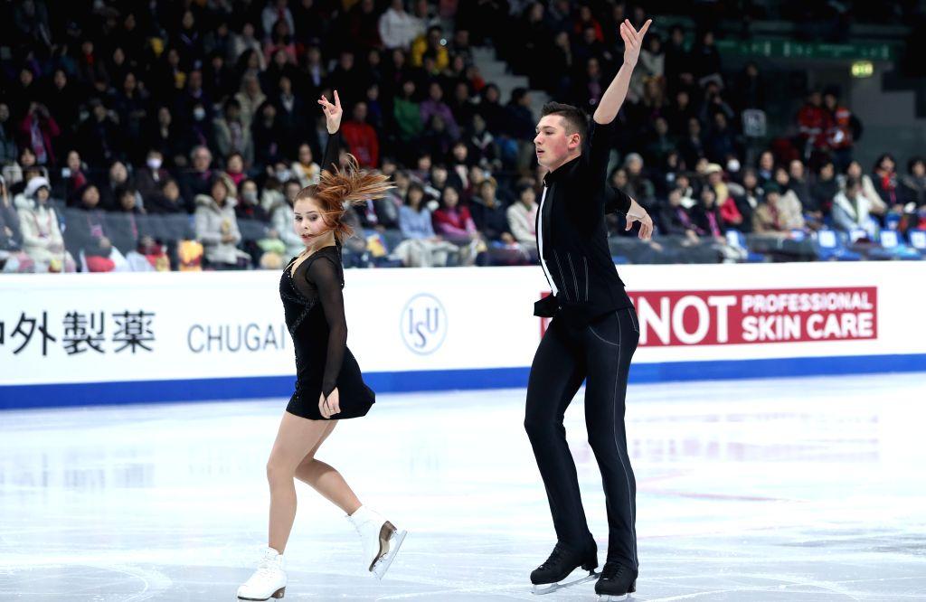 TURIN, Dec. 6, 2019 - Anastasia Mishina (L)/Aleksandr Galliamov of Russia compete during the pairs short program at the ISU Grand Prix of Figure Skating Final 2019 in Turin, Italy, Dec. 5, 2019.