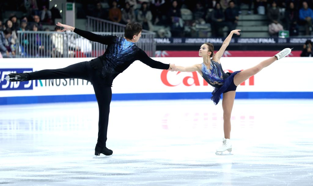 TURIN, Dec. 6, 2019 - Daria Pavliuchenko (R)/Denis Khodykin of Russia compete during the pairs short program at the ISU Grand Prix of Figure Skating Final 2019 in Turin, Italy, Dec. 5, 2019.