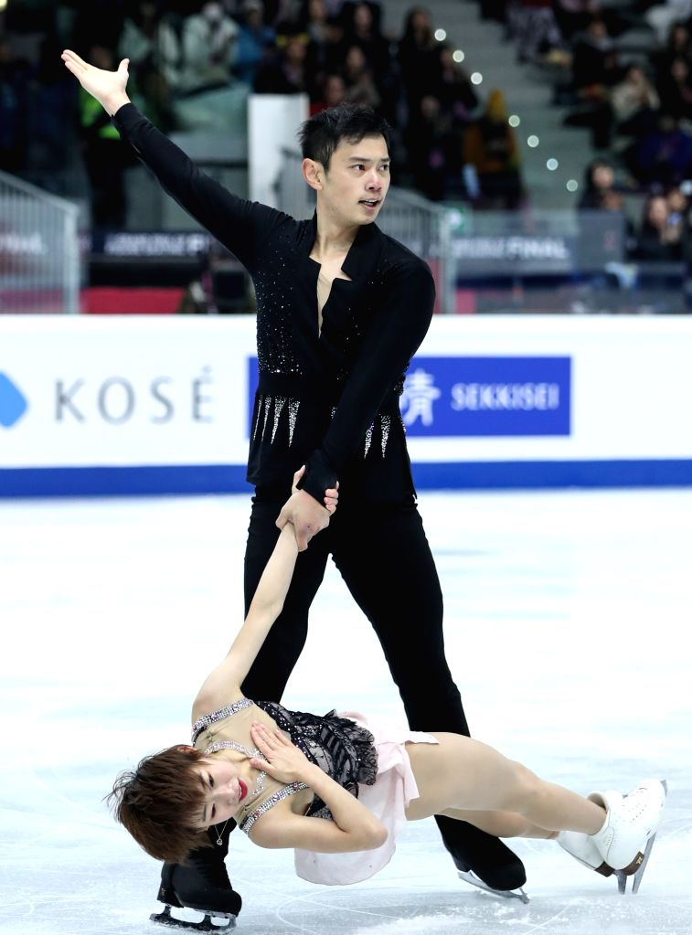 TURIN, Dec. 6, 2019 - Peng Cheng (Bottom)/Jin Yang of China compete during the pairs short program at the ISU Grand Prix of Figure Skating Final 2019 in Turin, Italy, Dec. 5, 2019.