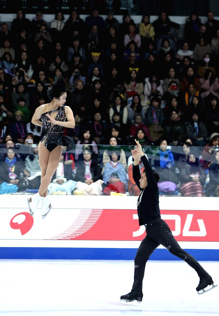 TURIN, Dec. 6, 2019 - Sui Wenjing (L)/Han Cong of China compete during the pairs short program at the ISU Grand Prix of Figure Skating Final 2019 in Turin, Italy, Dec. 5, 2019.