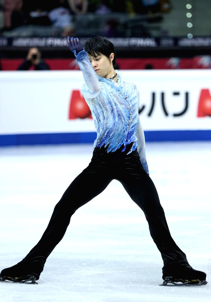 TURIN, Dec. 6, 2019 - Yuzuru Hanyu of Japan competes during the men's short program at the ISU Grand Prix of Figure Skating Final 2019 in Turin, Italy, Dec. 5, 2019.