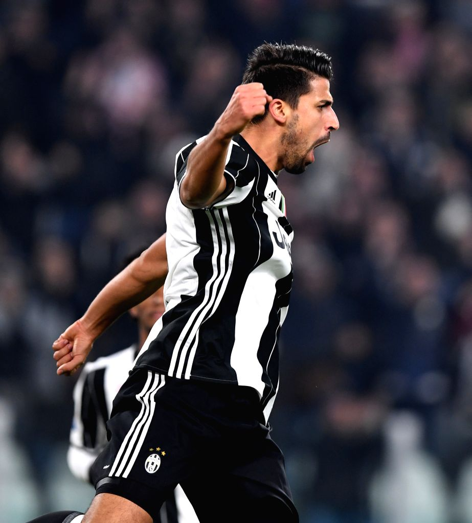 TURIN, Nov. 20, 2016 - Juventus' Sami Khedira celebrates scoring during the Italian Serie A match between Juventus and Pescara at the Juventus Stadium in Turin on Nov. 19, 2016. Juventus won 3-0.