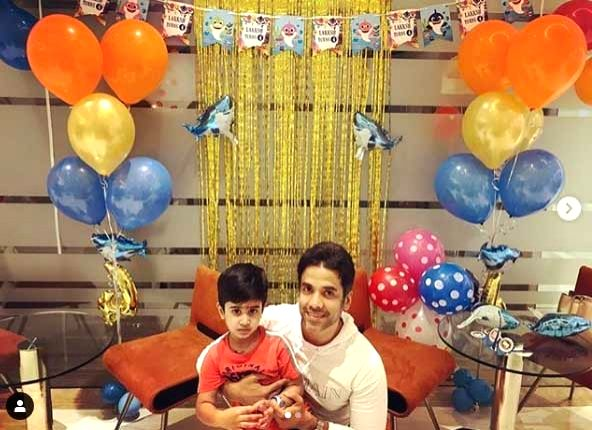 Tusshar to son Laksshya: You will always be my gift from God.