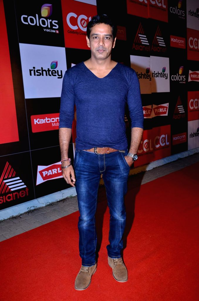TV actor Anup Soni during the media interaction for the upcoming Celebrity Cricket League 4 in Mumbai on December 20, 2013. - Anup Soni