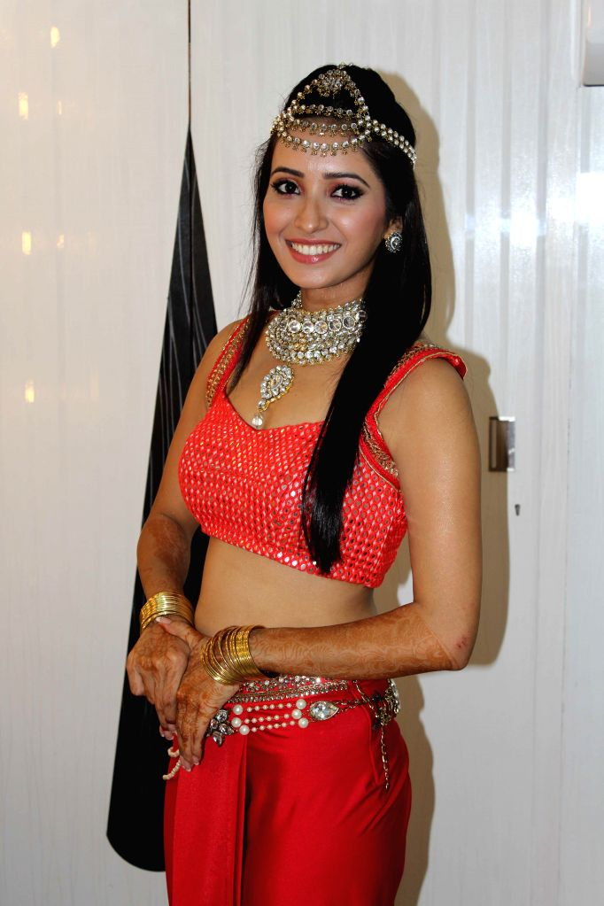 TV actor Asha Negi during the Indian Telly Awards in Mumbai, on Sept 9, 2014. - Asha Negi