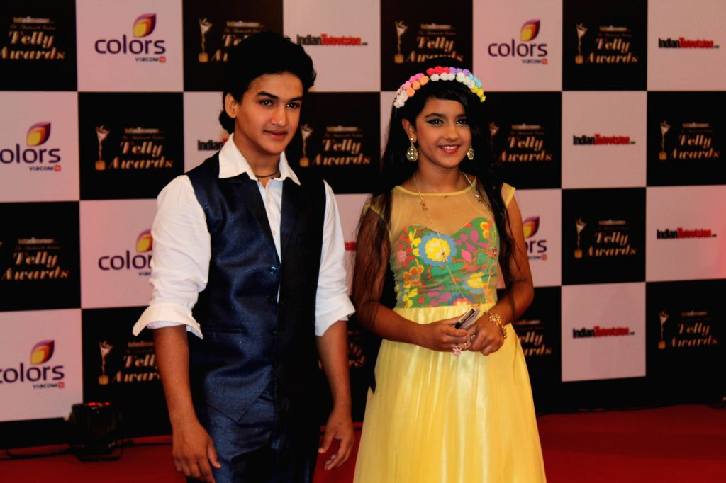 TV actor Faizal Khan and Roshni of Maharana Pratap during the Indian Telly Awards in Mumbai, on Sept 9, 2014. - Faizal Khan