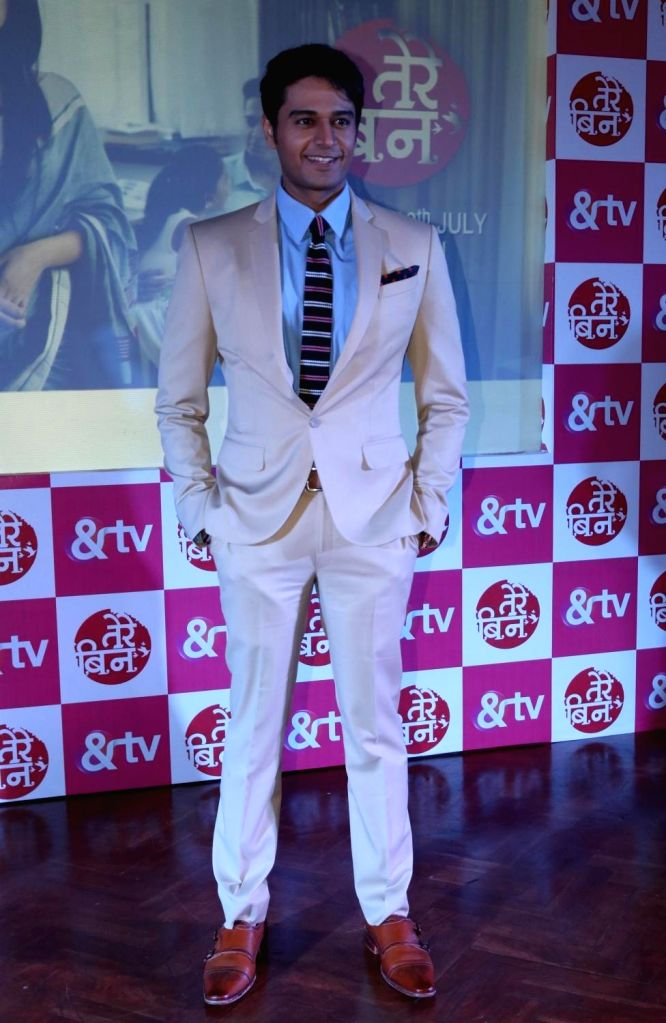 """TV Actor Gaurav Khanna during a press conference to promote their upcoming TV show """"Tere Bin"""" in &TV, in New Delhi, on July 5, 2016. - Gaurav Khanna"""
