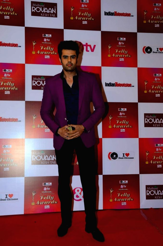TV actor Manish Paul during the 14th Indian Telly Awards in Mumbai, on Nov 28, 2015. - Manish Paul