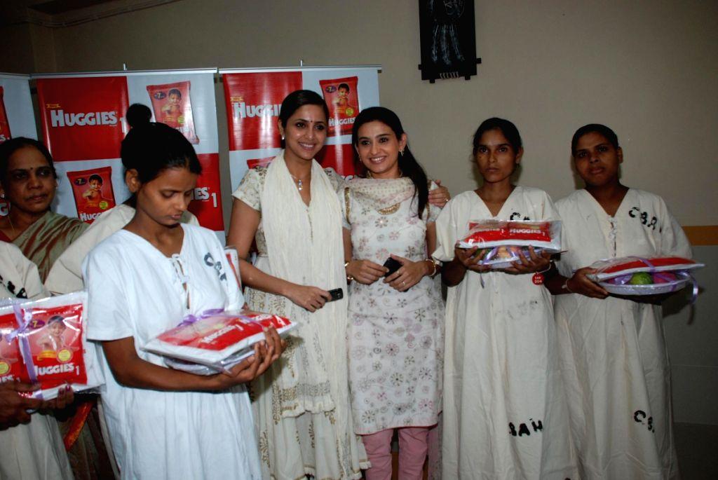 TV actors Smita Bansal and Gutami Kapoor at the Huggies event in Mumbai