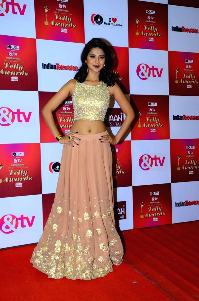 TV actress Jennifer Winget during the 14th Indian Telly Awards in Mumbai, on Nov 28, 2015. - Jennifer Winget